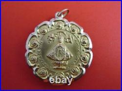 18k Solid Gold Jesus San Juan Los Lagos Medal Very Rare 37mm Large Size Pendant