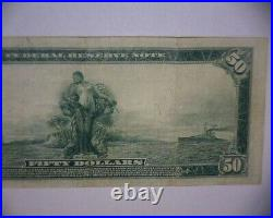 1914 $50 Dollar FEDERAL RESERVE Large Size Note PHILADELPHIA, PA. VERY RARE