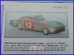 1958 Ferrari 410 Superamerica Race Car a Very Rare BANDAI Tin Toy LARGE 11.5