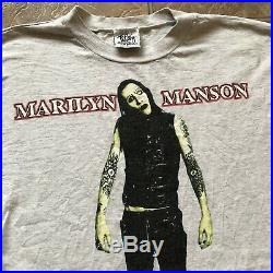 1995 Marilyn Manson Anti-Christ Superstar Very Rare Long Sleeve Shirt Size Large