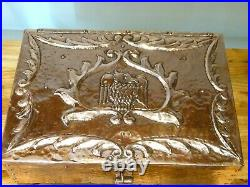 A Very Large & Rare Copper Casket by John Pearson, Guild of Handicrafts & Newlyn