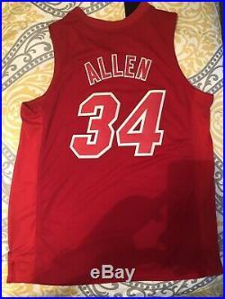 Adidas Miami Heat Ray Allen swingman Very Rare Red Hot Xmas jersey Large +2