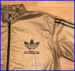 Adidas Original Windbreaker Very Rare Metalic Gold Black Size L (Liam Gallagher)