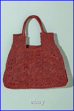 Anthropologie The Jacksons Tami Straw Jute Bag Very Rare