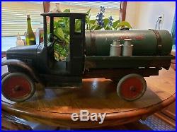 Antique 1920s Buddy L Tanker Truck Very Rare All Original! Large