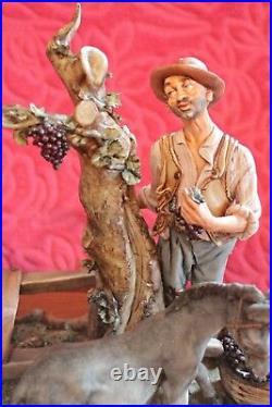 Antique Very Large & Rare Capodimonte Group Figure the Grape Harvest by Volta