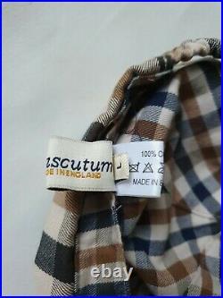 Aquascutum Large Check Cap Very Rare 2000's Big house Check