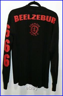 Archaic Smile 666/BEELZEBUB long sleeve shirt, L, Made in USA, VERY RARE VTG