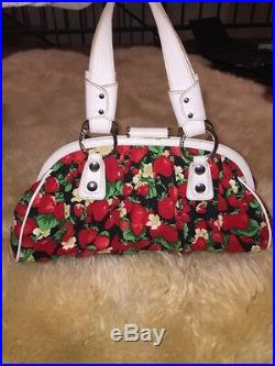 Authentic Dolce Gabbana Strawberry Fabric Large Handbag VERY RARE
