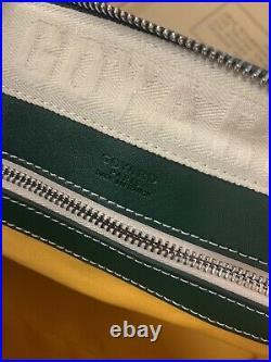 Authentic Goyard Boeing 45 Duffel Bag Green Very Rare Duffle Travel Handbag