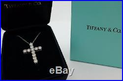 Authentic Tiffany & Co Platinum Cross 1.87 Ct Large Very rare