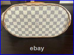 Authentic & Very Rare Louis Vuitton Pampelonne GM White Damier Azur Tote Bag