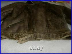 BELSTAFF Leather SHEARLING Blouson Size L VERY RARE