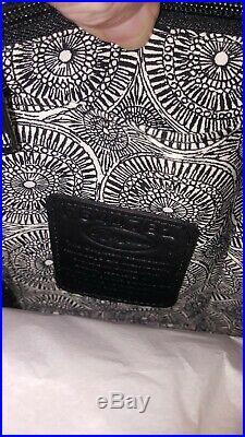 BRIGHTON FERRARA NOVA RAFAELA Tote/Purse Black NEW in box, VERY RARE COLOR