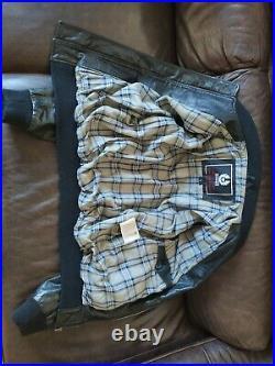 Belstaff Money Bomber Leather Jacket, Black, Size L, Very Very Rare