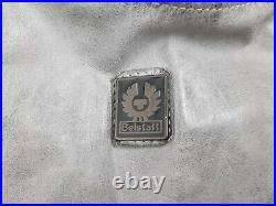 Belstaff Panther Leather Jacket Grey Men's Size L Belted Made In Italy Very Rare