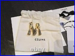 Bnwt Celine Alphabet Gold Brass Large M Letter Pendant Very Rare Sold Out