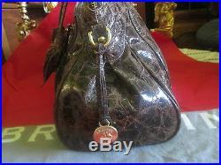 Brahmin truffle La Scala Louise Rose handbag VERY RARE ZIPPER ROSES