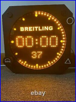 Breitling digital wall clock novelty cockpit large 20 inducta (very rare)