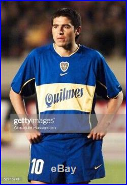 CABJ Boca Juniors Nike Libertadores 2001 Riquelme L/S Soccer Jersey Very Rare