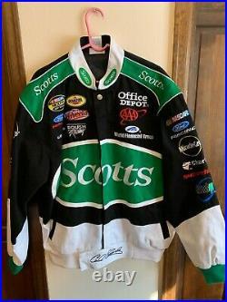 Carl Edwards Scotts Team Caliber NASCAR Jacket Size (L) Large Very Good RARE