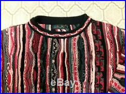 Coogi Knit Matching Outfit Sweater & Pants Size L Very Rare