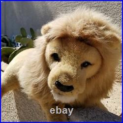 Douglas Cuddle Toys Very Large 3ft Long Lion Plush Stuffed Animal RARE Real Look