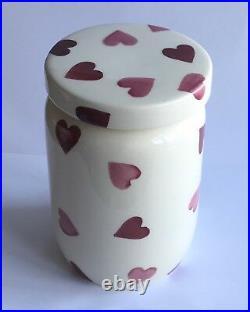 Emma Bridgewater LARGE pink heart Jam Jar DISCONTINUED VERY RARE