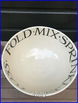 Emma Bridgewater Large Mixing Bowl Black Toast&Marmalade, very rare