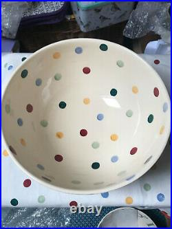Emma Bridgewater Polka Dot Large Mixing Bowl, very rare, new, first