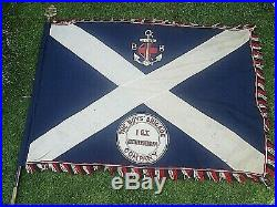 Extremely Rare 1940/50s Very Large Boys Brigade Ensign / Flag 1st Auchterderran