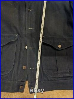 Filson Belltown Waxed Denim Jacket Men's L Very Rare Black Label