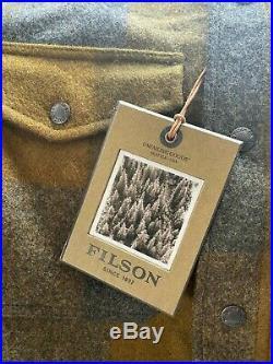 Filson Mackinaw Plaid Jac Shirt Military Plaid Very Rare Large