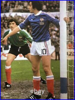 France adidas 1979 Home Number 10 Platini Matchworn vs Czechslovakia very Rare