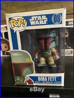 Funko Pop! Boba Fett Blue Box LARGE FONT LETTERS Early/1st Run, Very Rare