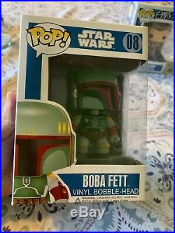 Funko Pop! Boba Fett Blue Box -LARGE FONT LETTERS -Early/1st Run, Very Rare Mint