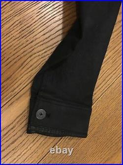G-Star Defend Slim 3D Jacket SzL 3D Dark Aged Black Denim NWT Very Rare