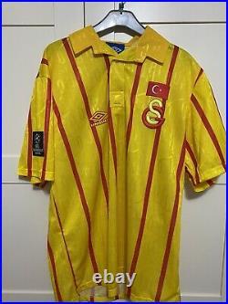 Galatasaray Istanbul Turkey 10 Jersey 1992/1994 umbro very rare