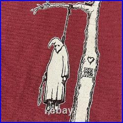 Genuine 90s Jim Thiebaud Hanging Klansman T-shirt Real Skateboards VERY RARE