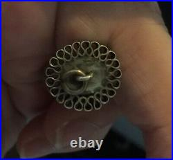 Georgian Figa Hand Pendant Fob Very Large Rock Crystal And Silver Mount Rare Wow