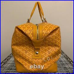 Goyard Boeing 45 Duffel Bag Authentic Yellow Very Rare Duffle Travel Handbag