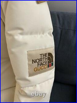 Gucci x The North Face Cream Puffer Jacket size XS Very Rare