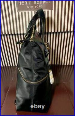 Henri Bendel Large Very Rare Petrol Jetsetter Convertible Backpack Dustbag Nwt