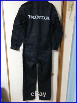 Honda Motorcycle Jump Suit One Piece Motocross Large Very Rare Mechanic Shirt