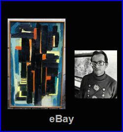 Hugo De Soto (Cuban American, 1928) Large oil. Abstract composition. Very rare