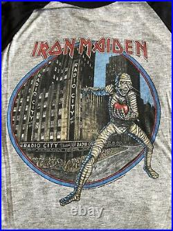 Iron Maiden vintage 1985 jersey shirt World Slavery Tour very rare
