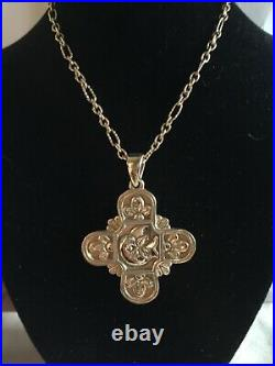 James Avery 14K Gold Very Rare Large Spirit of Peace Cross Pendant Only