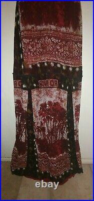 Jean Paul Gaultier Very Rare Women's Vintage 2000 Tree Print Long Dress