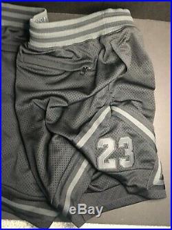 Jordan x Just Don x Flight Shorts Triple Black 918028-010 Sz L VERY RARE