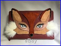 KATE SPADE Very Rare DARA large FOX wallet NWT